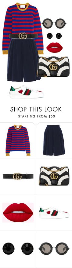 """Senza titolo #2327"" by monsteryay ❤ liked on Polyvore featuring Gucci, Givenchy and Christopher Kane"
