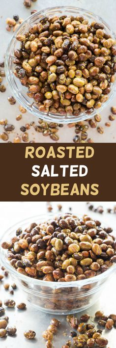 Roasted Salted Soybeans recipe using fresh soybeans. These are perfect for healthy snacking!