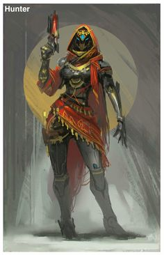 ArtStation - Destiny fan art, mole wang - Top Of The World Do Pi Ke Destiny Hunter, Destiny Game, Character Concept, Character Art, Concept Art, Cry Anime, Anime Art, Cyberpunk, Science Fiction