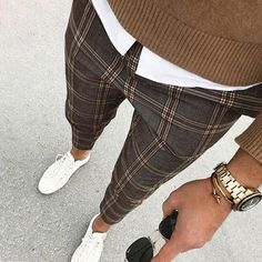 Men& Casual Street Plaid Cropped Pants Men& Casual Street Plaid Cropped Pants – alisatv The post Men& Casual Street Plaid Cropped Pants & Likings appeared first on Plaid pants . Mens Plaid Pants, Plaid Pants Outfit, Plaid Suit, Casual Pants, Suit Pants, Men Pants, Mens Trousers Casual, Casual Tops, Harem Pants
