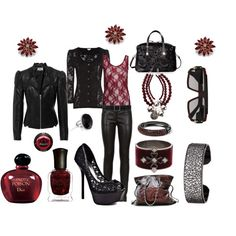 """""""Leather and Lace"""" by missyfer88 on Polyvore"""