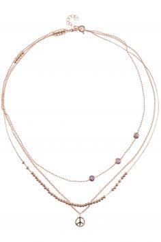 rose gold plated three-row #necklace I designed for NEW ONE I NEWONE-SHOP.COM