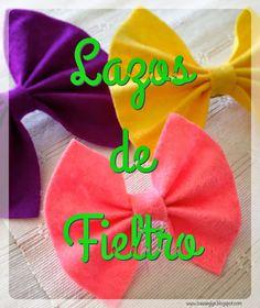 #DIY #lazos de #fieltro #felt #ties
