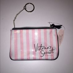 "NEW VS COIN PURSE KEY CHAIN Victoria's Secret Zip Coin Wallet with Key Chain and Ring  It measures approx. 6"" x 4""  This purse has 1 zipper closure pocket  FAST SHIPPING!!! Victoria's Secret Bags Wallets"