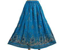 Womens Peasant Skirt Blue Lehenga Sequin Embroidered Gypsy Skirt Designer Long Maxi Skirts mogul interior,http://www.amazon.com/dp/B00CAK90MM/ref=cm_sw_r_pi_dp_Pf7Jrb26668B41BB