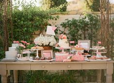 Dessert Buffet Table ~ lovely colours, but of course it can be colour coordinated to your wedding colours!!!!