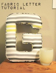 This would make fab #Christmas present, #Fabric Letter #Tutorial - but is it too late to get started? you would need to be a super quick sewer...