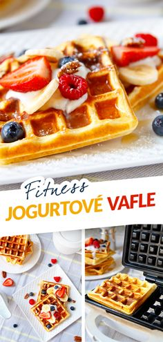 Kefir, Healthy Desserts, Waffles, Breakfast, Fitness, Food, Health Desserts, Morning Coffee, Waffle