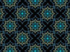 """Celestial"" by trinity8419 #pattern #black #blue #mosaic #ornate #yellow"
