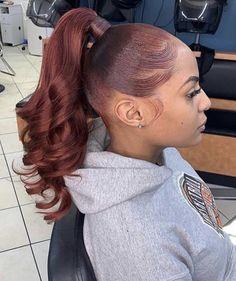 Black Ponytail Hairstyles, Hair Ponytail Styles, Sleek Ponytail, Baddie Hairstyles, Black Girls Hairstyles, Pretty Hairstyles, Curly Hair Styles, Natural Hair Styles, Ponytails For Black Hair