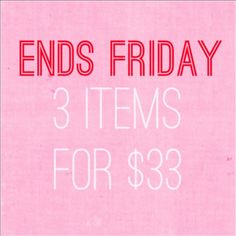 Bundle deal Bundle any items with stars** in the title 3 for 33$. Everything else is 30% off ... All discounts will automatically be applied at check out PINK Victoria's Secret Other