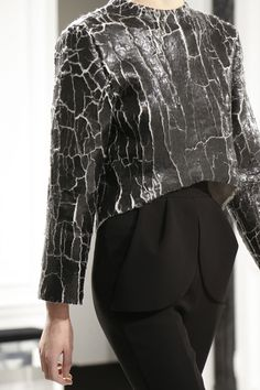 Balenciaga AW13 - A technique worth learning, this texture adds depth and coolness to a simple silhouette.