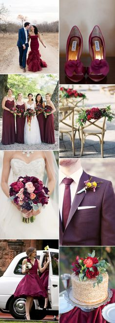 Such a statement shade for a wedding theme - Marsala on GS Inspiration | Glitzy Secrets