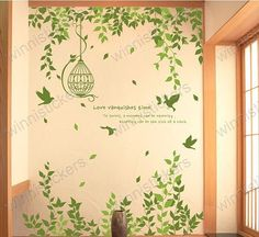 Vinyl+Wall+Decal+Nature+Design+Tree+Wall+Decals+Wall+by+WinneDEGIN,+$62.00