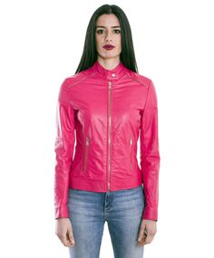 Giacca Giubbotto Pelle Donna Woman Leather Jacket Veste Blouson Femme Cuir GISZP