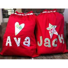 $30.00 Personalised Santa Sacks by TwoLittleMonkeys on Handmade Australia