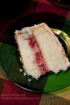 Whipped Cream Cake Slice Photo caption BakeThisCakecom LifeForcePhotoscom