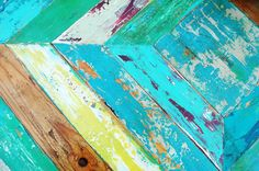 MakandJill - Blog 8-10 colors Annie Sloan Paint applied with rubber spatula or credit card-frost the piece let dry between color coats