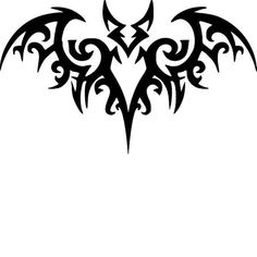 Your place to buy and sell all things handmade Tribal Heart Tattoos, Tribal Tattoo Designs, Tattoo Designs For Women, Bat Stencil, Stencils, Seal Tattoo, Airbrush Shirts, Disney Stained Glass, Polynesian Tattoos Women