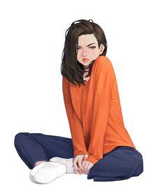 Anime Girl Drawings, Cartoon Girl Drawing, Anime Art Girl, Girl Cartoon, Anime Girls, Cartoon Drawings, Cute Drawings, Pretty Art, Cute Art