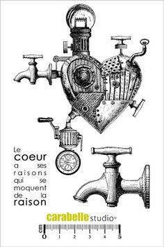 Tampon : Le coeur a ses raisons Carabelle Studio, Tampons A6 : Eclectique - Art…