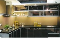 Now you can make economical and Beautiful kitchen cabinets in aluminium profiles.  Tel # 0361780160, 01126359380 Email: info@fancycoral.com.   Website: www.fancycoral.com Aluminium Kitchen, Black Kitchens, Beautiful Kitchen Cabinets, Kitchen Makeover, Home Furniture, Cabinet, Home Decor, Cabinet Lighting, Kitchen Design