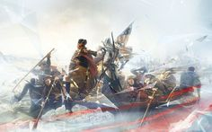 Washington Crossing The Delaware - Pictures & Characters Art - Assassin's Creed III