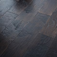 "Shaw Floors Panorama 6-3/8"" Engineered Handscraped Hickory Flooring in Dusk 