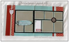 Scrapbooking Kits: Snowhaven 6-Page Scrapbooking Kit - perfect for scrappin' those holiday and winter photos, especially of the snow. #ctmh #snowhaven #scrapbooking #scrapbookkits