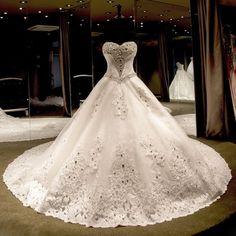 Long Train Organza Appliques Crystal Bling Glitter Ball Gown Wedding Dress Lovely Bridal Gown robe de mariage vestidos de noiva - http://fashionfromchina.net/?product=long-train-organza-appliques-crystal-bling-glitter-ball-gown-wedding-dress-lovely-bridal-gown-robe-de-mariage-vestidos-de-noiva