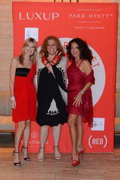 Cash & Rocket (RED) Tour - Umberta Beretta, Oliva Marroti, Gabriella Dompè @ Park Hyatt Milano, 9 June 2012