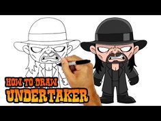 Happy Thursday everyone! Today we'll be showing you How to Draw Chibi Undertaker from the WWE. Be sure to check out our collection of wrestler lessons in our. Undertaker Wwe, Easy Cartoon Drawings, Easy Drawings, Wwe Coloring Pages, Cartooning 4 Kids, Mysterio Wwe, Japanese Wrestling, Youtube Drawing, Simple Cartoon