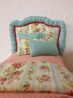 Cabecero de cama tapizado  TODO MINIATURAS