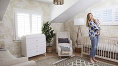 Design Reveal: Whitney Port's Gender Neutral Nursery Chic Nursery, Nursery Neutral, Nursery Decor, Room Decor, Nursery Ideas, Royal Nursery, Rustic Nursery, Whitney Port, Baby Boy Rooms
