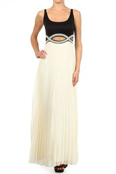 Full Length Tank Dress With A Cutout On Midriff