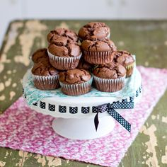 Double Chocolate Whole-Wheat Muffins