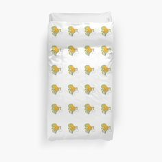 This brand new 'Yellow Octopus' design will look great on any product. It is fun, cute and eye-catching. / Find somebody the perfect gift! Choose from the many varieties of products and BUY IT NOW to place your order. Yellow Octopus, Octopus Design, College Dorm Bedding, Duvet Insert, Duvet Covers, Artists, Eye, Bedroom, Unique