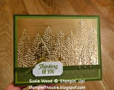 Stamped Christmas Cards, Homemade Christmas Cards, Christmas Mom, Stampin Up Christmas, Christmas Cards To Make, Xmas Cards, Christmas Trees, Fall Cards, Winter Cards