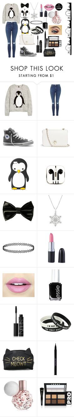"""""""Christmas"""" by soswitharianaa ❤ liked on Polyvore featuring H&M, Converse, Tory Burch, MANGO, PhunkeeTree, Fiebiger, Essie, NARS Cosmetics, Urban Decay and LORAC"""