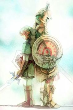 Link and the Redead Link A past hero teaching the current hero