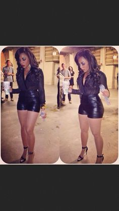 Love this outfit and makeup Ashanti