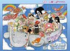 RolonoaZoro Gallery :: Color Spreads (Illustrazioni a colori) :: 537_come_on_kaizoku_nabe
