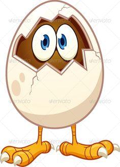 Cartoon Chicken   GraphicRiver Cartoon Chicken Egg 4914035