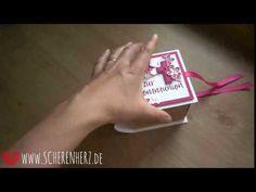 Explosionsbuch - Kommunionsbox in Pink | scherenherz
