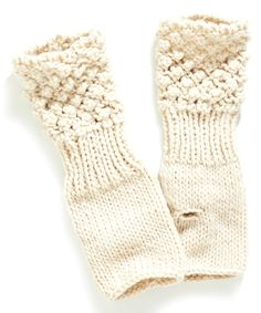 Look at this Champagne Popcorn-Knit Fingerless Gloves on #zulily today!