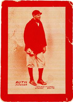 Babe Ruth, Major League Baseball Hall of Famer - In addition to being born and raised in Baltimore, MD, Babe was also part of the Orioles roster in This is his 'rookie card,' printed by the Baltimore Sun Newspaper. Baseball Socks, Sports Baseball, Baseball Cards, Baltimore Orioles Baseball, Baltimore Maryland, Babe Ruth, Ruth 1, Sports Figures, Boston Red Sox