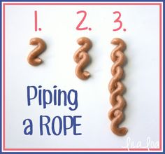 Learn how to pipe an icing rope for decorated nautical sugar cookies