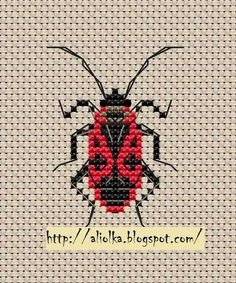 Cute beetle crosstitch -