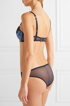 11ba6cbc1e Stella McCartney - Ellie Leaping lace and mesh-trimmed leopard-print  stretch-silk satin balconette bra