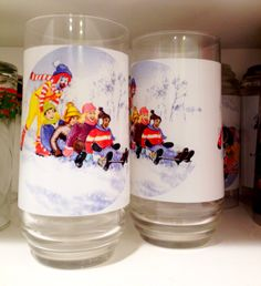Remember these McDonald's Christmas glasses?